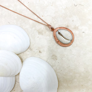 Rose Gold Cowrie Shell Necklace