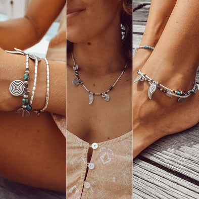 Endless summer wrap can be worn as a necklace or wrapped as an anklet or bracelet