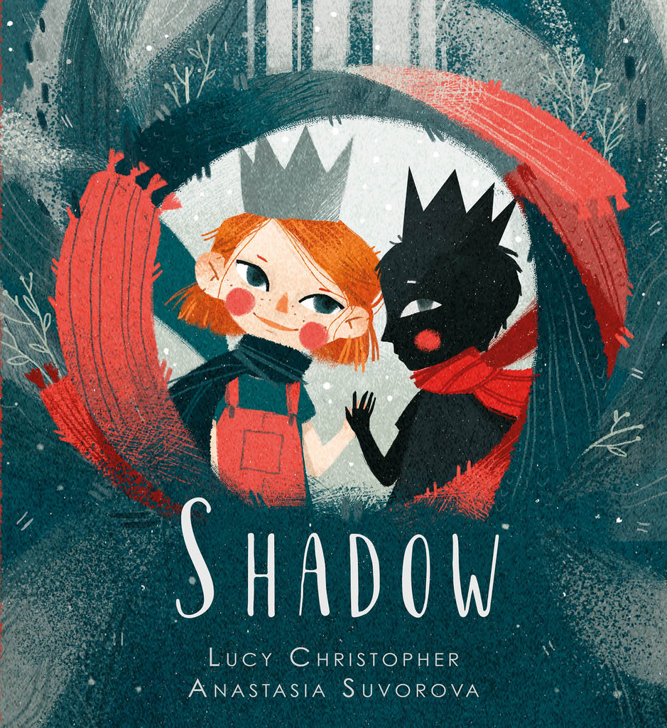 Cover image of diverse book Shadow by Lucy Christopher and Anastasia Suvorova showing two children  wearing crowns