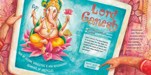 In a scene from Looking for Lord Ganesh, a girl sends an email to the elephant god Ganesh