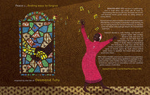 Load image into Gallery viewer, In a page from Peace and Me Desmond Tutu sings praises