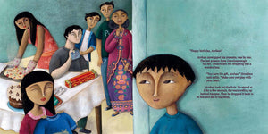 In a scene from Phoenix Song, a Malaysian boy and his family prepare a birthday feast