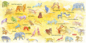 Hybrid animals like zedonks, wallaroos and more are show on this spread from The Tigon and the Liger
