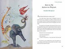 Load image into Gallery viewer, In a scene from A Wisp of Wisdom: Animal Tales from Cameroon, an elephant loudly trumpets his displeasure