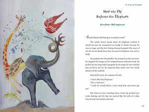 In a scene from A Wisp of Wisdom: Animal Tales from Cameroon, an elephant loudly trumpets his displeasure