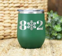 8-Snow-2 Stemless Wine Tumbler, 12oz