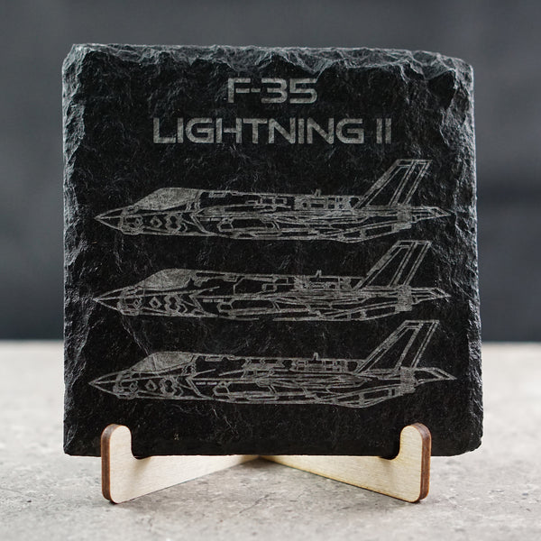 F-35 Lightning II A-B-C Slate Coasters | ManganLabs Custom Creations