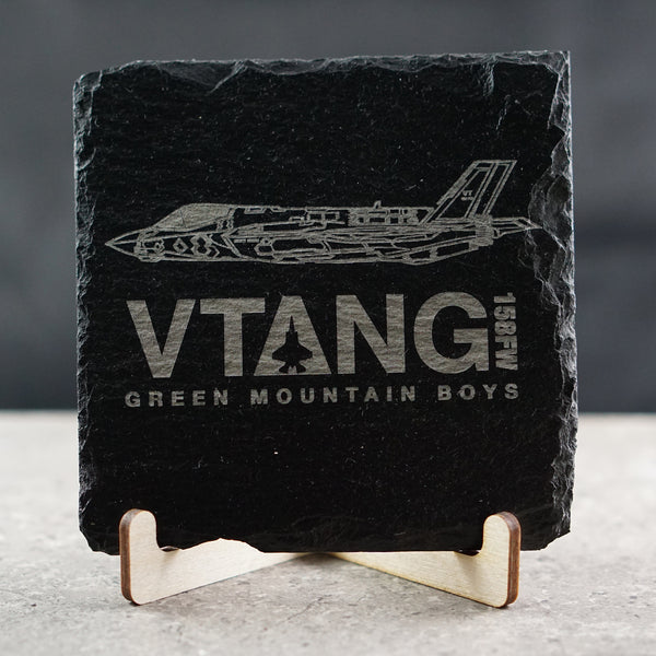 Vermont F-35 VTANG Slate Coasters | ManganLabs Custom Creations