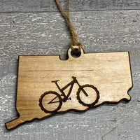Connecticut Mountain Bike Ornament