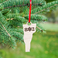 Vermont 802 Snowflake Ornament main image | ManganLabs Custom Creations