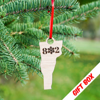 Vermont 802 Snowflake Ornament With Gift Box | ManganLabs Custom Creations
