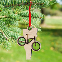 Vermont Mountain Bike Ornament Cover Image | ManganLabs Custom Creations
