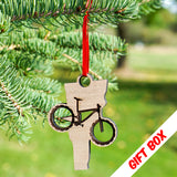 Vermont Mountain Bike Ornament With Gift Box | ManganLabs Custom Creations