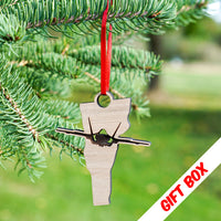 Vermont F-35 Ornaments with gift box | ManganLabs Custom Creations