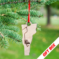 Vermont Single Chair Ornament With Gift Box | ManganLabs Custom Creations