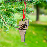Vermont Skier Ornament Cover Image | ManganLabs Custom Creations