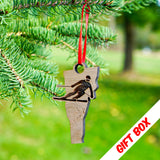 Vermont Skier Ornament With Gift Box | ManganLabs Custom Creations