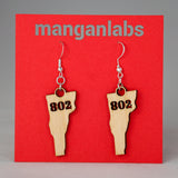 Vermont 802 Earrings Main Image | ManganLabs Custom Creations