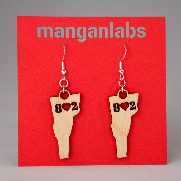 Vermont 8♥2 Earrings cut-out cover image | ManganLabs Custom Creations
