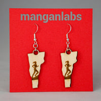 Vermont Runner Earrings Front | ManganLabs Custom Creations