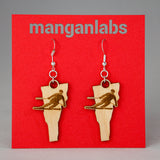 Vermont Skier Earrings | ManganLabs