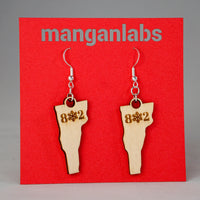 Vermont Snowflake Earrings Front | ManganLabs Custom Creations