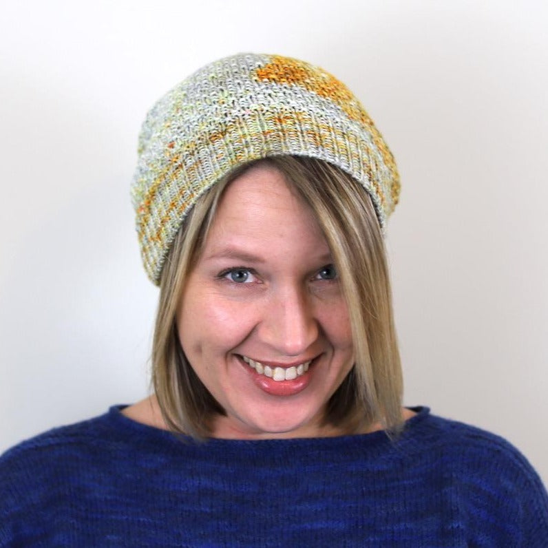 Count to Three Hat PDF- Knitting Pattern