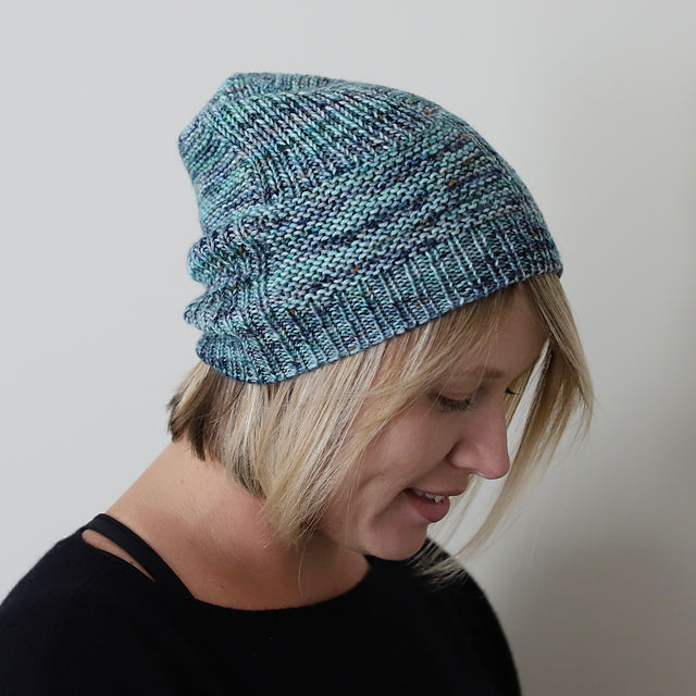 Four Square Hat PDF- Knitting Pattern