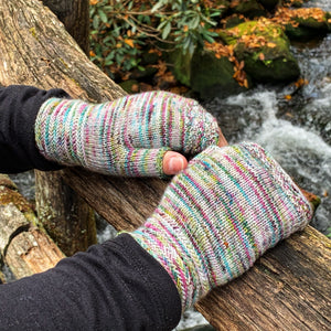 Along the Shores Fingerless Mitts PDF- Knitting Pattern