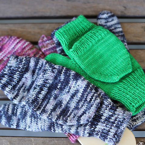 Pop Op Mitts PDF- Knitting Pattern