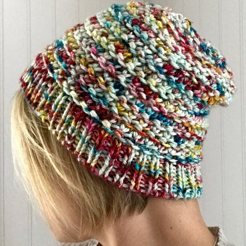 Bulky Treadhead Hat PDF- Knitting Pattern