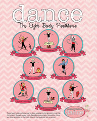Poster - 8 Body Positions of Dance