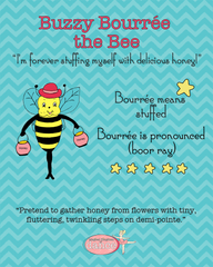 Buzzy Bourrée the Bee - Poster