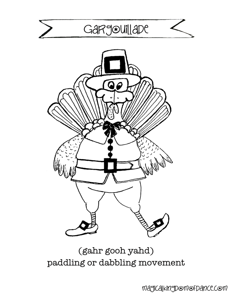 Thanksgiving Coloring Page | The Magical Kingdom of Dance