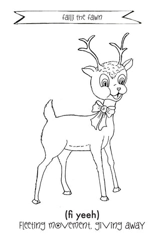 Faill The Fawn Color Sheet