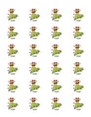 Glissade the Caterpillar Sticker Sheet