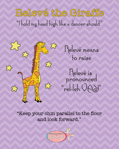 Relevé the Giraffe - Poster