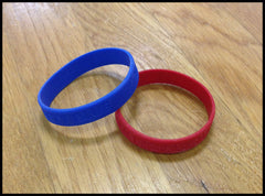 Righty Red and Lefty Blue Rubber Bracelets