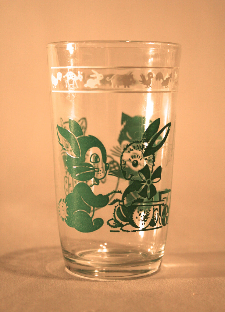 1950s Child's Glass Tumbler - Vintage Swag Chics