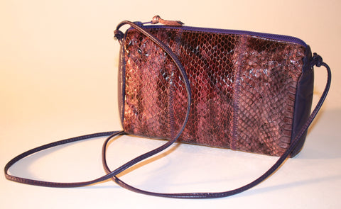 Sylvia Cee Purple Snake Mini Bag