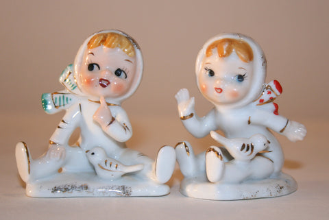 1950s Ceramic Winter Figurines