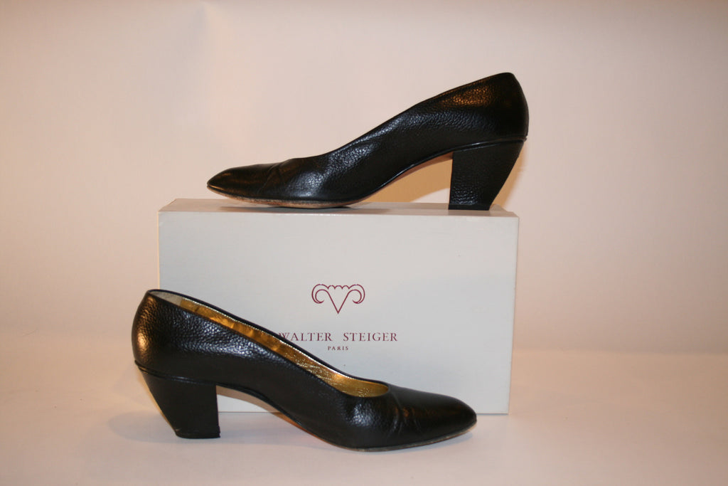 80s Walter Steiger Black Pumps - Vintage Swag Chics