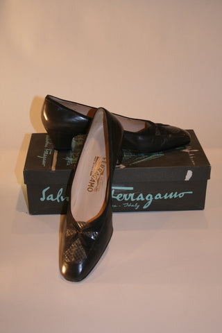 Charcoal Ferragamo Shoes