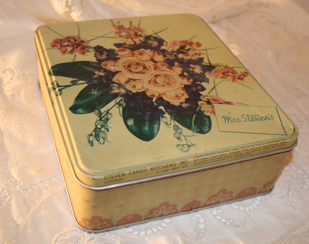 Bouquet of Roses Vintage Tin - Vintage Swag Chics