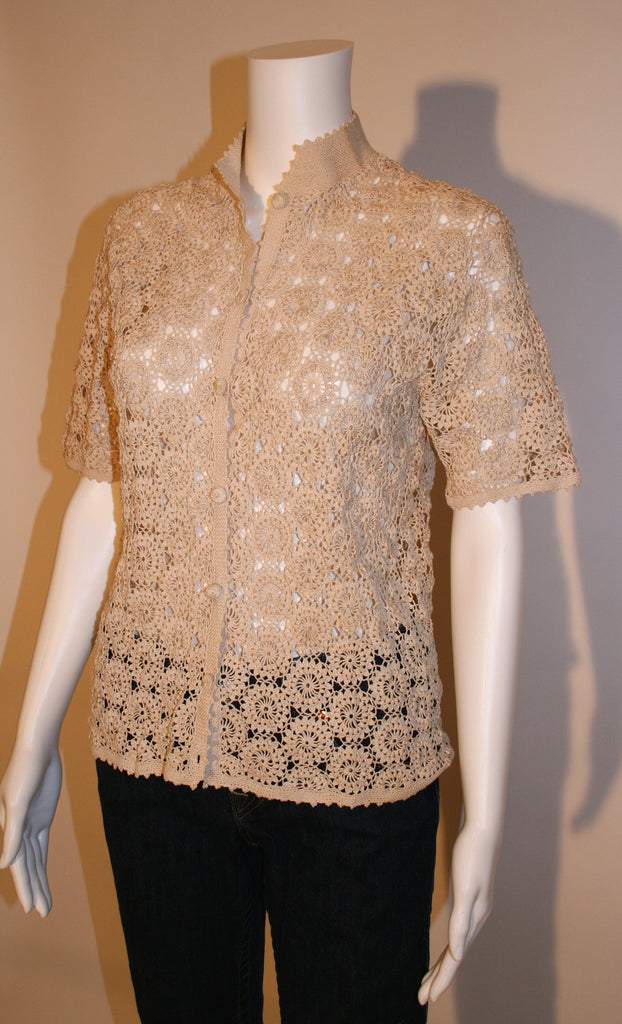 Vintage Crochet Lace Top - Vintage Swag Chics