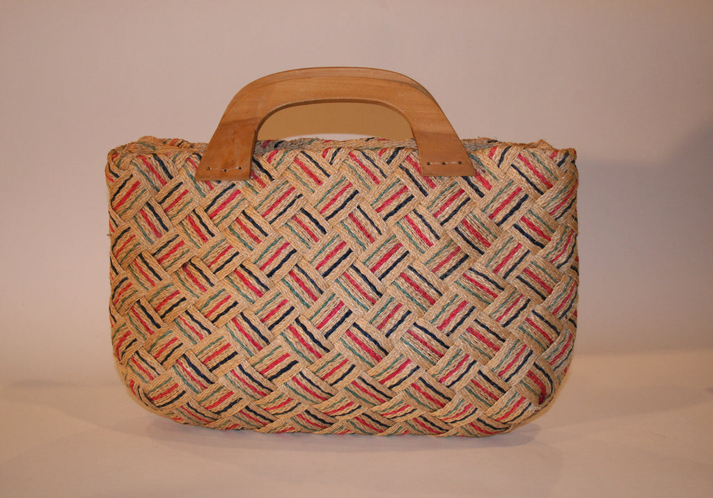 Vintage Woven Straw Resort Handbag - Vintage Swag Chics