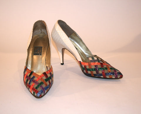 J. Rene Multi Color Strap Shoe