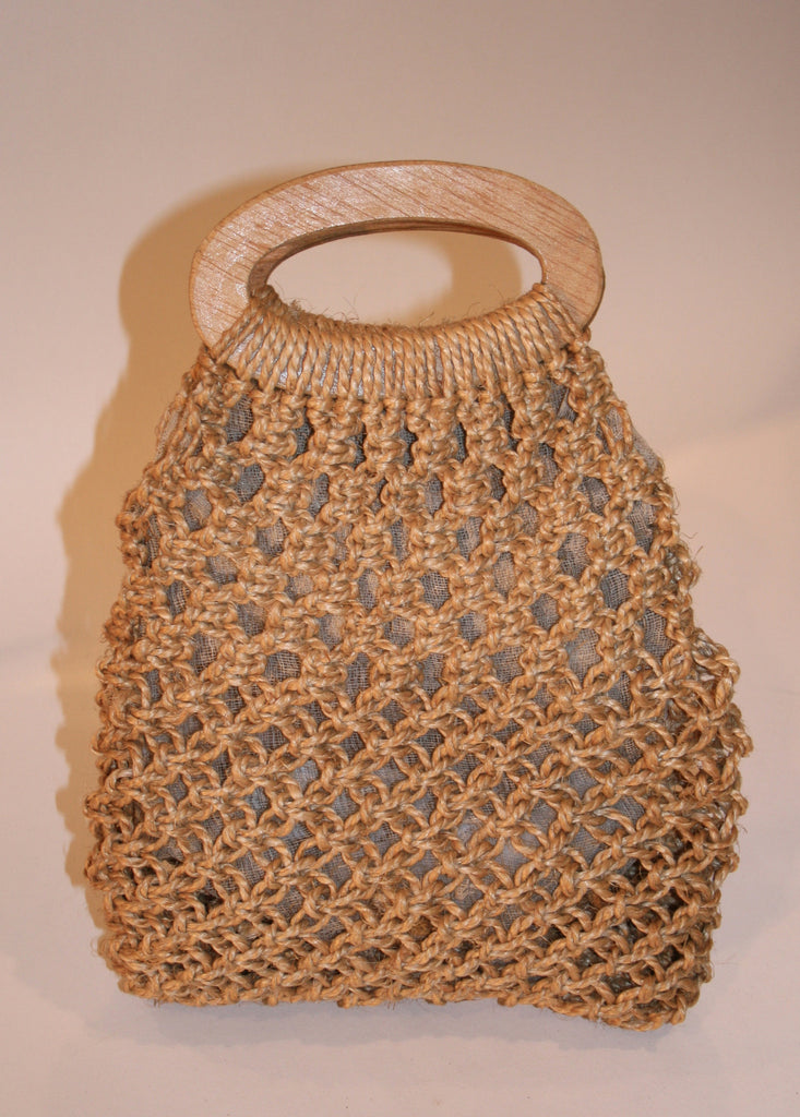 Vintage Crocheted Raffia Summer Purse - Vintage Swag Chics