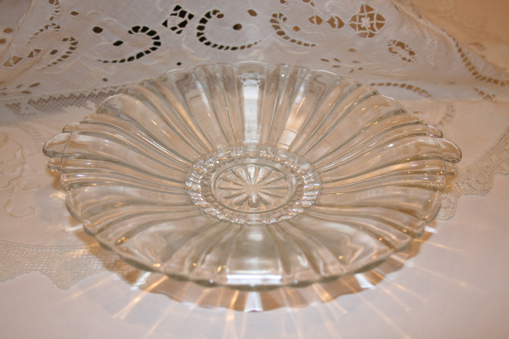 Vintage Depression Glass Candy Dish - Vintage Swag Chics
