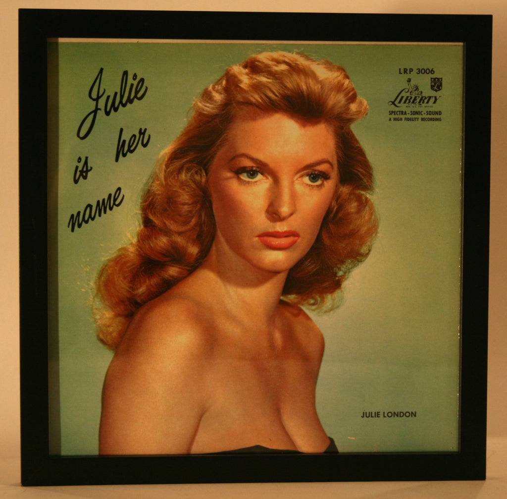 "Vintage Framed Record Album ""Julie London"" - Vintage Swag Chics"